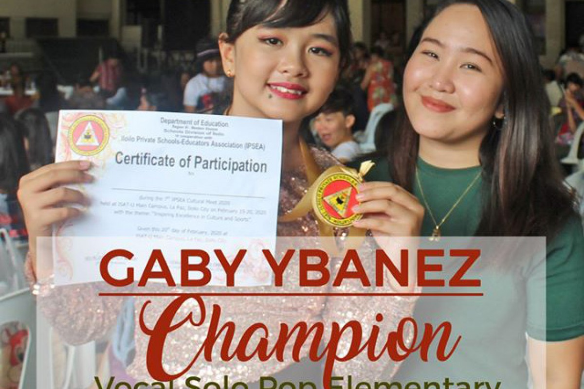 Champion - Vocal Solo Pop Elementary IPSEA Cultural Meet 2020